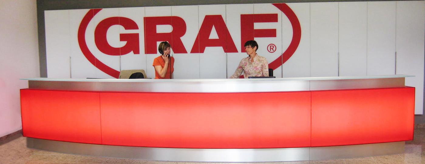 欢迎来到GRAF在Dachstein的所在地:自1970年以来,我们还一直在法国生产高质量的塑料产品。这里大约有100名员工。
