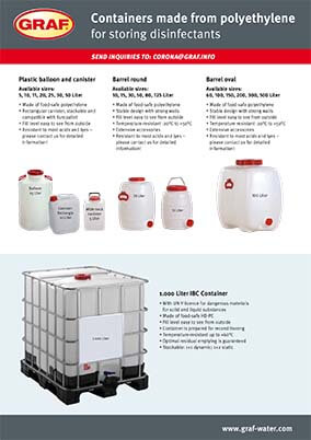 Flyer containers for disinfectants