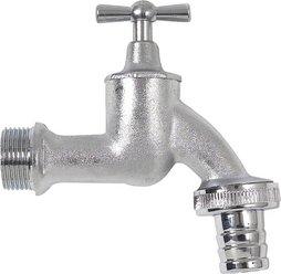 Chrome drain tap, complete, size3/4