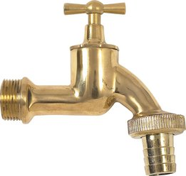 Brass drain tap, complete, size3/4
